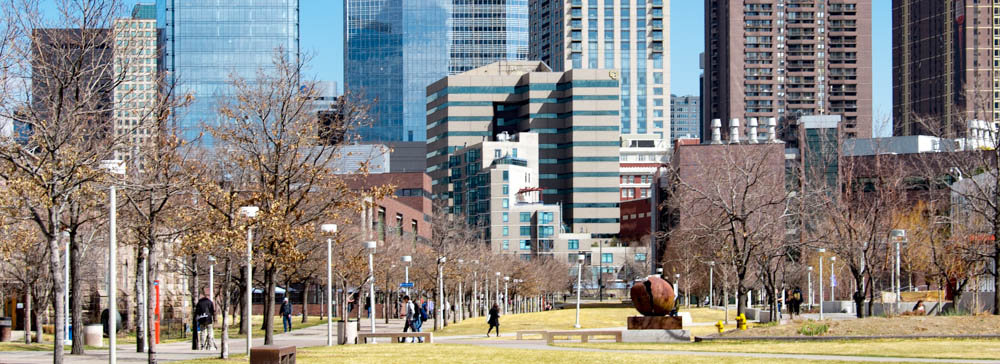 auraria campus with city in the background