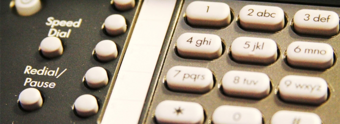 Closeup of a telephone